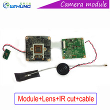 Wifi ip Panorama Webcam module CMOS sensor VR 360 degree Fisheye camera board+lens+IR cut+cable for CCTV Security Camera system