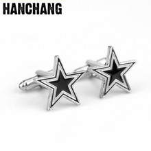 Luxury Cufflinks Men's Brand Five Star Cufflinks High Quality Lawyer Father's Day Gift Cuff Pins For Mens Shirt Cuff Links(China)