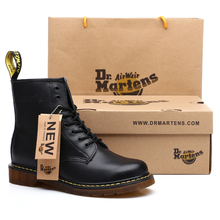 Brand Men Women 눈 Boots Genuine Leather Winter Boot 와 털 Warm 편안한 남성 발목 Shoes Martens Boots Dr 마틴스(China)