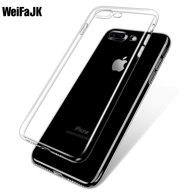 WeiFaJK Soft Case for iPhone 6 6s PlusTPU Cases for 5 5s SE Clear Silicon Back Cover for Apple iPhone 7 Plus Capue Phone Bag(China (Mainland))