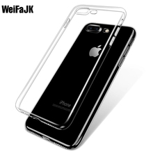 WeiFaJK Soft Case iPhone 6 6s PlusTPU Cases 5 5s SE Clear Silicon Back Cover Apple 7 Plus Capue Phone Bag - Store store