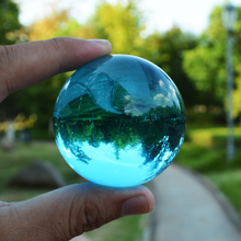 9 Colors 60mm Shining Glass Ball Craft Crytal Sphere Feng Shui Globe Miniature Vintage Home Decor For Gifts