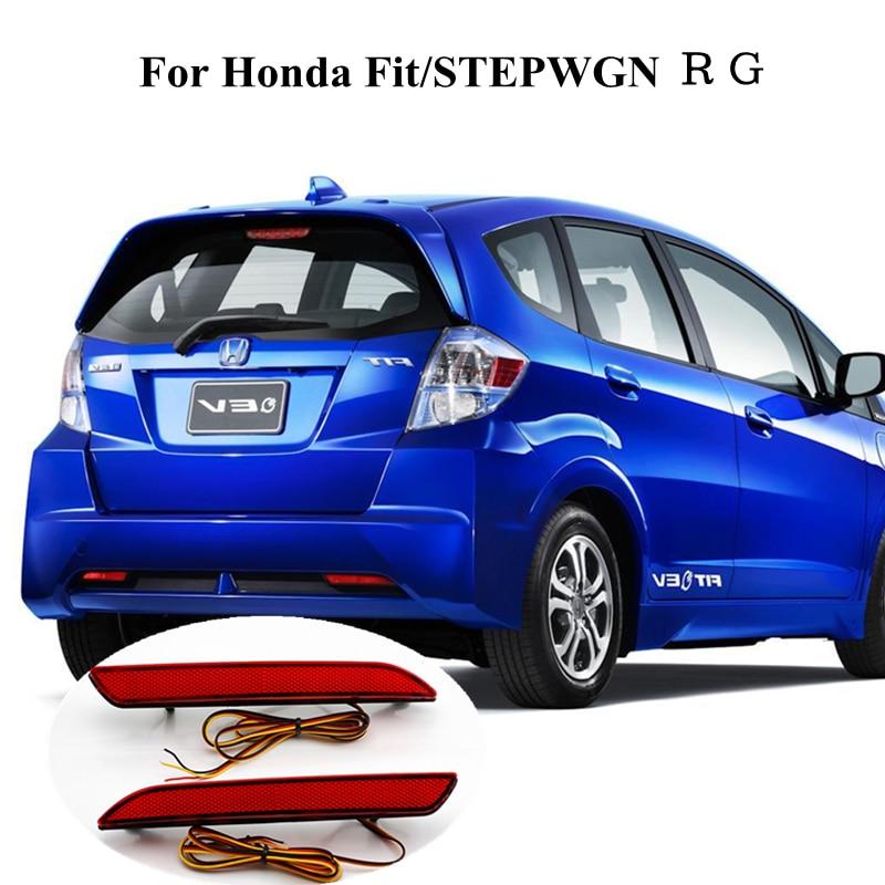 For Honda Fit/STEPWGN RG Waterproof Red Rear Bumper Reflector Lamp Car LED Parking Warning Tail Burner Lights 12V Stop Fog Lamp<br><br>Aliexpress