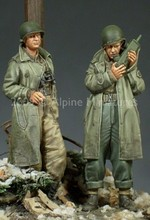 1/35 scale WW2 US soldier walkie talkies 2 people WWII miniatures Resin Model Kit figure Free Shipping(China)