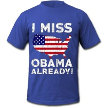 Best T Shirt Websites Short O-Neck Fashion 2016 Mens I Miss President Obama Already Political Funny Tee Shirts(China)
