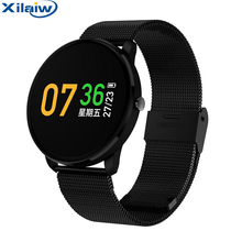 Xilaiw XF007s Smart Bracelet Colorful Screen Heart Rate Blood Pressure MonitoringSMS Notification Smart Wristband Sport Tracker(China)