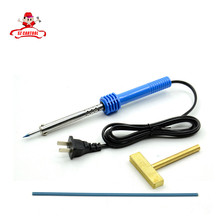 1pc 220V-240V 40W Pencil Tip Soldering Iron Welding Gun Tool with Solder T-head Rubber strip for LCD Pixel Repair Ribbon Cable