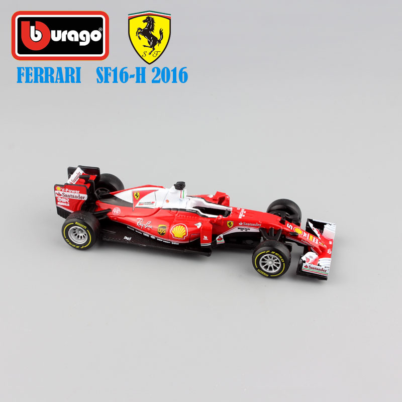 1/43 Scale kids metal diecast 2016 F1 SF16-H No.5 Sebastian No.7 Kimi Raikkonen mini race cars styling model gifts toys for boys(China (Mainland))