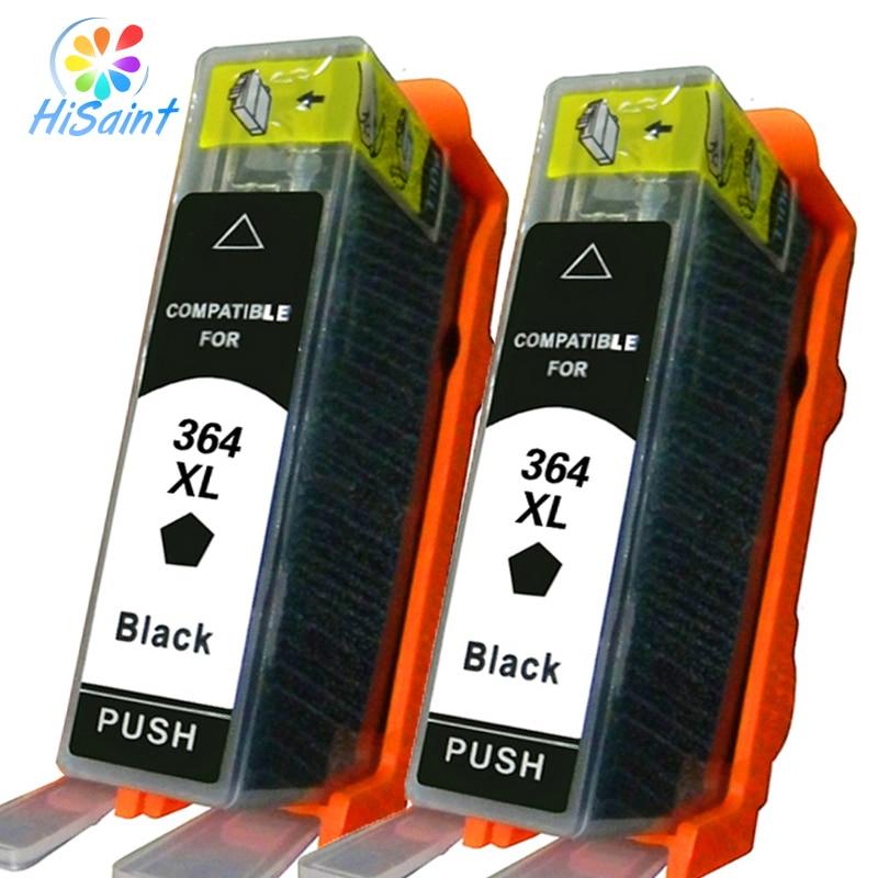 2Pcs New For HP 364 BK Ink Cartridge Cheap Photosmart 7510/B8550/C5324/C5380/C6324/C6380/D5460 for HP Photosmart eStation C510a<br><br>Aliexpress