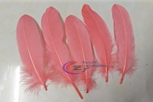 200pcs/lot!13-18cm long Dark Coral  Goose Feathers,Hat Trimming,Feathers for Millinery,Fascinators&Crafts