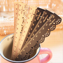 Creative Stationery Lace Ruler / Wooden Ruler Learning Essential / Drawing Tools 1pc