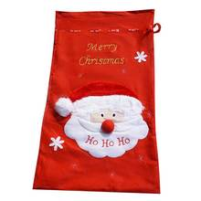 Large Personalised Christmas Santa Father Sacks Red Candy Toy Gift Bag Drawstring Bag