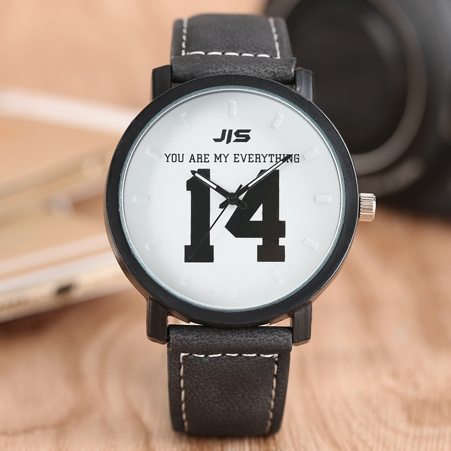 YOU ARE MY EVERYTHING Series Men Watch JIS Unique Number 1314 Quartz Wristwatch Young People Fashion Dress Clock Male Ulzzang 2018 (20)