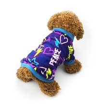 Warm Fleece Dog Clothes Graffiti Style Small Pet Dog Coat Puppy Vest Sweater Outfit For Dog Teddy Chihuahua Clothes(China)