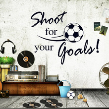 Fashion Removable Shoot For Your Goals Soccer Wall Stickers Home Decals Home Decoration Sticker Mural