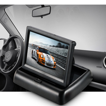 Auto 4.3 Inch Folding Vehicle Mounted Display Device /High-definition Car Reversing Video AV Input Video Small LCD Screen