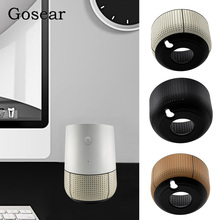 Gosear Fashion PU Leather Replacement Speaker Assistant Base Stand Holder for Google Home Accessories 3 Colors Available(China)