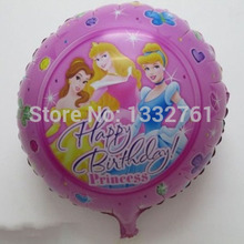 45*45cm 20pcs/lot Happy birthday princess foil balloons Helium foil globos birthday party decorate mylar ballons