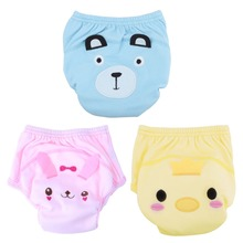 3 Colors Washable Adjustable Baby Nappies Infants Reusable Nappy Changing Training Pants for 80-100cm Baby(China)