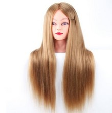 CAMMITEVER Professional Mannequins Styling Head Long Hair Wig Heads For Hairdressers Training Head Fiber Mannequin Head Display