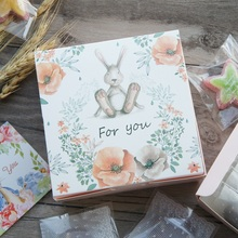 13.5*13.5*5cm 10pcs rabbit doll for you design Paper Box for Cheese candy Cookie valentine gift Packaging Wedding Christmas Use