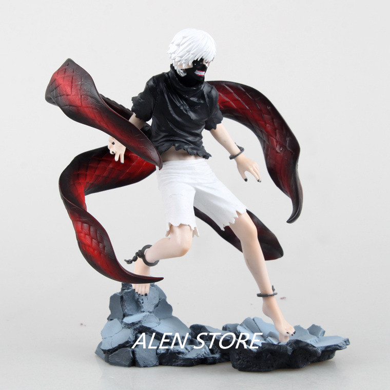ALEN Anime Tokyo Ghoul Figure Toys Kaneki Ken Model Toy Anime Action Figures Cartoon Kid Toys Pvc Tokyo Ghoul Figure 23cm<br>
