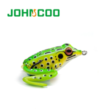 New Soft Plastic Fishing Frog Lure with Sharp Hook Topwater Wobbler Fishing Lure Pesca Soft Tackle