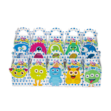 Mini Monster Favor Box Candy Box Gift Box Cupcake Box Boy Kids Birthday Party Supplies Decoration Event Party Supplies
