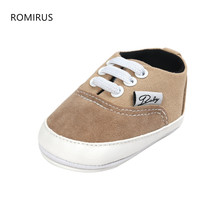 ROMIRUS 2017 New Trendy Soft Baby Moccasins Shoes Newborn Boy Girl Crib Footwear Toddler Lace Up Loafer Pre walker Outdoor Shoes