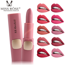 Makeup MISS ROSE Pigments Nude Color Cosmetics Matte Lipstick Waterproof Sexy Moisturizer Brand Velvet Lip Stick Makeup Batom(China)