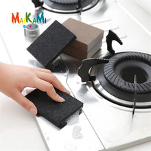 2pcs/lot Thin Descaling Cleaning Sponge Super Strong Kitchen Removing Rust Sponge Nano Emery Magic Sponge Eraser Rust Remover(China)