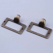 10PCS Home Cupboard Drawer Door Label Style Pull Handle Bronze Tone vintage Card Holder Drawer Pull Label holders Label Frames(China)