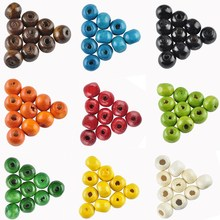 New! Charm 7MM 280 pcs/lot Mix Color Handmade/DIY Round Wooden Beads For Fashion Jewelry Bracelet Necklace Making Accessories