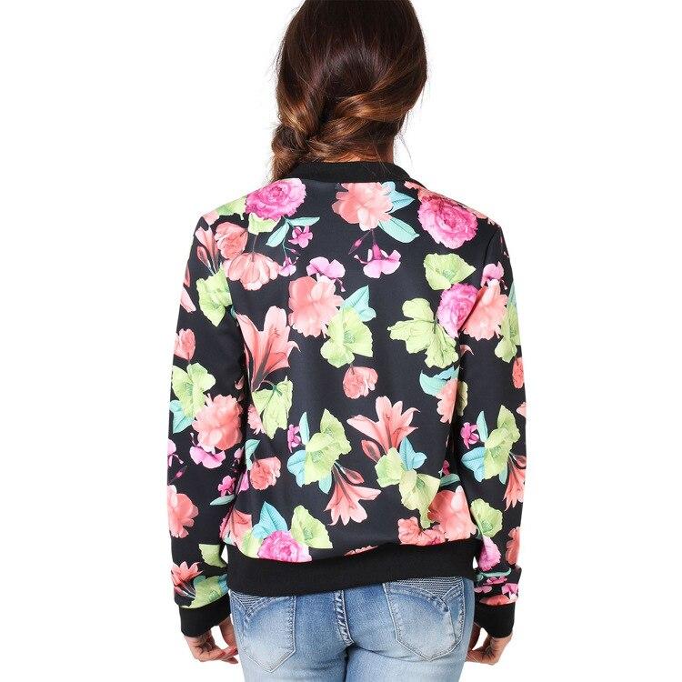2017 Women Spring Summer Thin Jacket Coat Vintage National Ethnic Floral Print Lady Slim Coat Jackets Long-sleeved Jacket Female 4