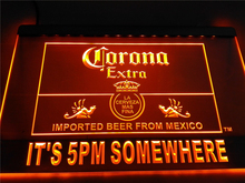 LA419- It's 5 pm Somewhere Corona Beer   LED Neon Light Sign     home decor  crafts
