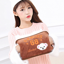 Cute Hand Warmer 220V Hot Water Bag Electric Charging Water Bag Winter Hot Water Bottle Cat Cartoon Hot Water Pocket with Cover(China)