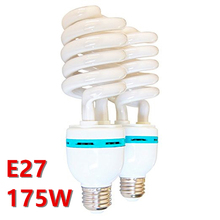 Tracking number 2 x Photo Studio Photography E27 175 Watt 5500K Day Light Fluorescent Full Spectrum Bulb Style Spiral(China)