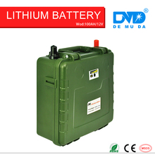 Long life rechargeable li-polymer deep cycle solar battery 12v 100ah 80ah 40ah 30ah with 10Ah battery charger free shipping(China)