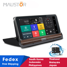 Maustor 7 inch 3G GPS Navigator Android 5.0 Dashboard Car Dash Camera Dual Lens Bluetooth Full HD 1080P Rear View Camera DVR