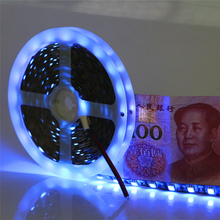 Super Brightness 5M DC12V SMD 5050 60leds/m Black PCB UV Led Strip Light Purple UV Ultraviolet Identify Money Flexible LED Tape(China)