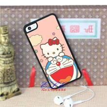 Doraemon and hello kitty  cell phone case cover for iphone 4 4s 5 5s se 5c 4 4s 5 5s se 5c 6 6 plus 6s 6s plus 7 7 plus J2677