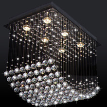 Free shipping popular design crystal chandelier guaranteed 100% promotion sales curtain wave contemporary crystal lights(China)