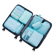 8pcs families Travel Clothes Underwear Socks Storage Bags Packing Cube Luggage Bag Organizer For 8 sizes Points bagging sets