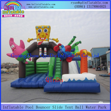 Quadruple sewing kids toys air castle mini happy hop bouncy castle for sale inflatable jumper for kids play