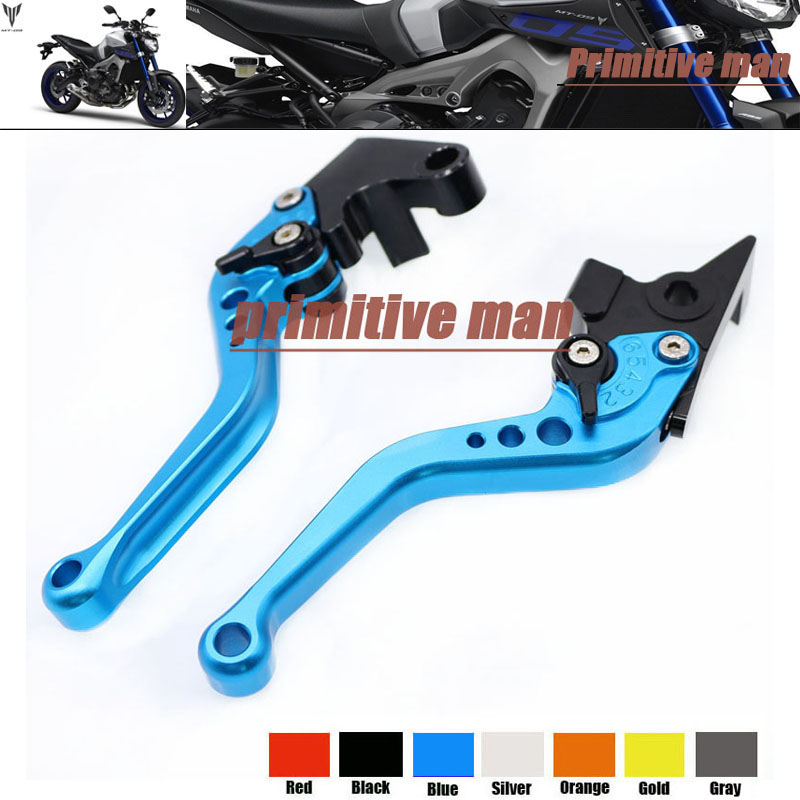 For YAMAHA MT 07/FZ 07 MT 09/FZ 09 MT 09 Tracer/FJ 09 Motorcycle Accessories Aluminum short Brake Clutch Levers Blue<br><br>Aliexpress