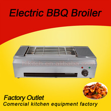 High Efficiency User Friendly CE Approved Stainless Steel Electric BBQ Grill