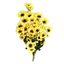 Artificial Simulation Sunflower Plant Bouquet Flower Heads Fake Peony Bridal Bouquet Christmas Wedding Party Home Decorative