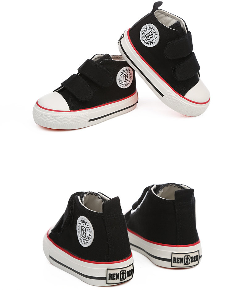 Baby shoes Girl Children Canvas shoes Boys 17 Spring Autumn Fashion High Cotton-made Baby girl little kids shoes 27