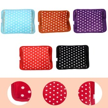1PC Colorful  Dual  Inserted Floral Hot Water Bag Electric Charging Type Hand Warmer for Winter Use Home Accessoreis