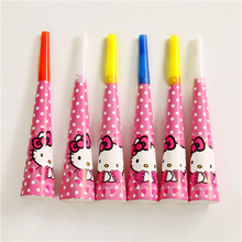 6PCS Cartoon Hello kitty Party Kids Girls Birthday Noise horn Decoration Party Festiva Trumpet Supplies